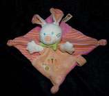Nicotoy / Baby Club Schmusetuch Hase orange / apricot