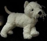 IKEA Kuscheltier GOSIG Hund Westie weiß