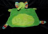 Baby fehn  Schmusetuch Elefant grün / Tatzen