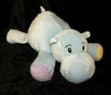 KIK Hippo / Nilpferd blau   bunte Füße