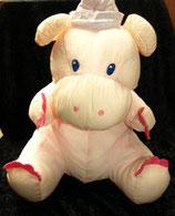 Knautschi / Puffalump  großes Nilpferd / Hippo mit Kleid