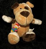Volksbank / Stein Promotion Hund  mit Schal ( Anhänger )