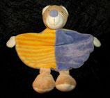 Topolino / Fehn Schmusetuch Bär / Teddy lila / Streifen