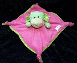 SIMBA Schmusetuch Hund rosa grün
