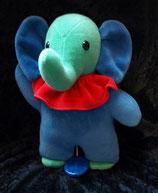 Sterntaler Spieluhr als Elefant blau / grün Nicki