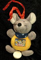 SIGIKID Pets Klecks Spieluhr Mini Maus gelb Babyplüsch