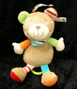 TOPOLINO Spieluhr  Teddy / Bär braun Babyplüsch bunte Ohren
