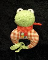 Sigikid Schmusetier Flip Flap Frosch Greifling / Rassel