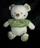 Nicotoy / Baby Club Teddy / Bär  mit grünem Pulli