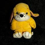 alter Nicki Hund 2 sitzend / verschiedene Ohren