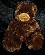 Kuschelwuschel / Karstadt Teddybär / Bär sitzend dunkebraun