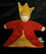 Organic Cotton People  Stoff Puppe Wichtel Zwerg Schmusetuch Sweat rot gelb