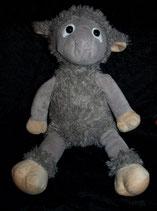 Schaf / Lamm grau flauschig weich mit Schal 35 cm