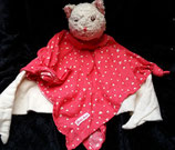 Käthe Kruse Schmusetuch Katze KÄTHE rot/weiß mit kleinen Katzen