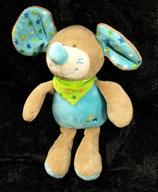 KIK   Kuscheltier Maus blau Sterne