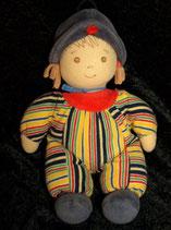 Sterntaler Spieluhr Puppe / Mädchen Streifen / gestreift