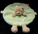 Nicotoy / Baby Club Schmusetuch Bär / Teddy rund