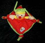 Toy Company Schmusetuch Harlekin / Narr / Clown rot gelb