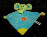 HEUNEC Baby Schmusetuch Elefant mit Beißecke