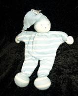 Organic Cotton People kleines Schmusetuch Puppe hellblau getreift
