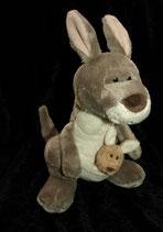 Nici Känguruh mit Baby 30 cm wie NEU