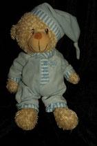 """Kuscheltier Teddy mit Schlafanzug blau """" Baby Baby """""""