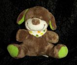 KIK / Okay Hund mit Punkte Halstuch / grüne Füße