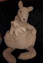 IKEA Klappar Känguru 70 cm  mit Baby Stofftier  Plüschtier