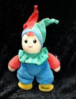 Sterntaler Schmusetier Clown / Harlekin rot/gelb/grün Zipfel