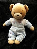 KALOO Teddy / Bär mit Latzhose und Shirt hellblau