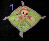 Simba Baby Schmusetuch Harlekin / Narr / Clown Tuch / hellgrün pink