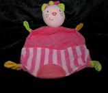 Topolino  Schmusetuch Katze  Pink / Streifen  mit Beißecke
