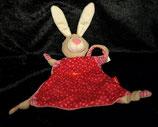 Sigikid Schmusetuch Hase mit Herzen 49115 - ohne Baby