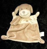 Nicotoy / Baby Club Schmusetuch  Hund  hellgelb / braun