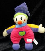 SIMBA  Puppe Harlekin / Narr / Clown  Herz auf Bauch