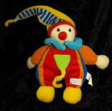 SIMBA  Puppe Harlekin / Narr / Clown  Zipfel blau / gelb