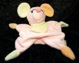 Sterntaler Schmusetuch Maus rosa bunte Ohrenm
