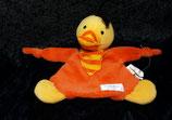 SIMBA Schmusetuch Ente klein orange mit Rassel