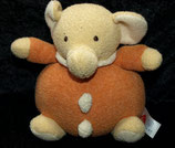 FEHN dicker weicher Rassel Elefant orange creme