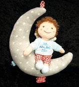 """SPIEGELBURG Spieluhr Mond Junge Mein Engelchen   """" Ich bin bei Dir... """""""
