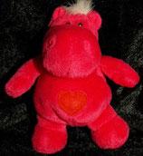 NICI Nilpferd / Hippo   Bud Belly / Herz / Love sitzend pink 30 cm OVP
