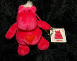 NICI Nilpferd / Hippo   Bud Belly / Herz / Love Schlüsselanhänger pink NEU