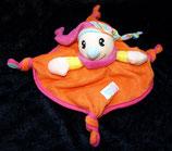 SIMBA Schmusetuch Harlekin / Narr orange pink