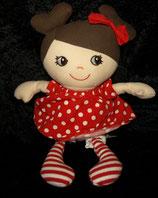 H&M Mädchen Puppe rotes Kleid mit Punkten