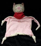 SIGIKID Schmusetuch  Katze Halstuch Herz rosa