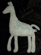 Die SPIEGELBURG Baby Glück Giraffe  hellblau