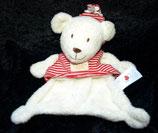 Nicotoy / Baby Club Schmusetuch Bär mit Shirt rot