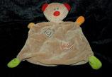 Paradise Toys Schmusetuch Teddy braun / Kringel