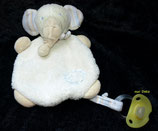 Fehn / Topolino Schmusetuch Elefant hellblau  weich