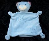 Baby Fehn  Schmusetuch Teddy / Bär hellblau Kringel